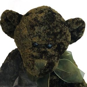 Heritage Collection Monty emerald green bear plush